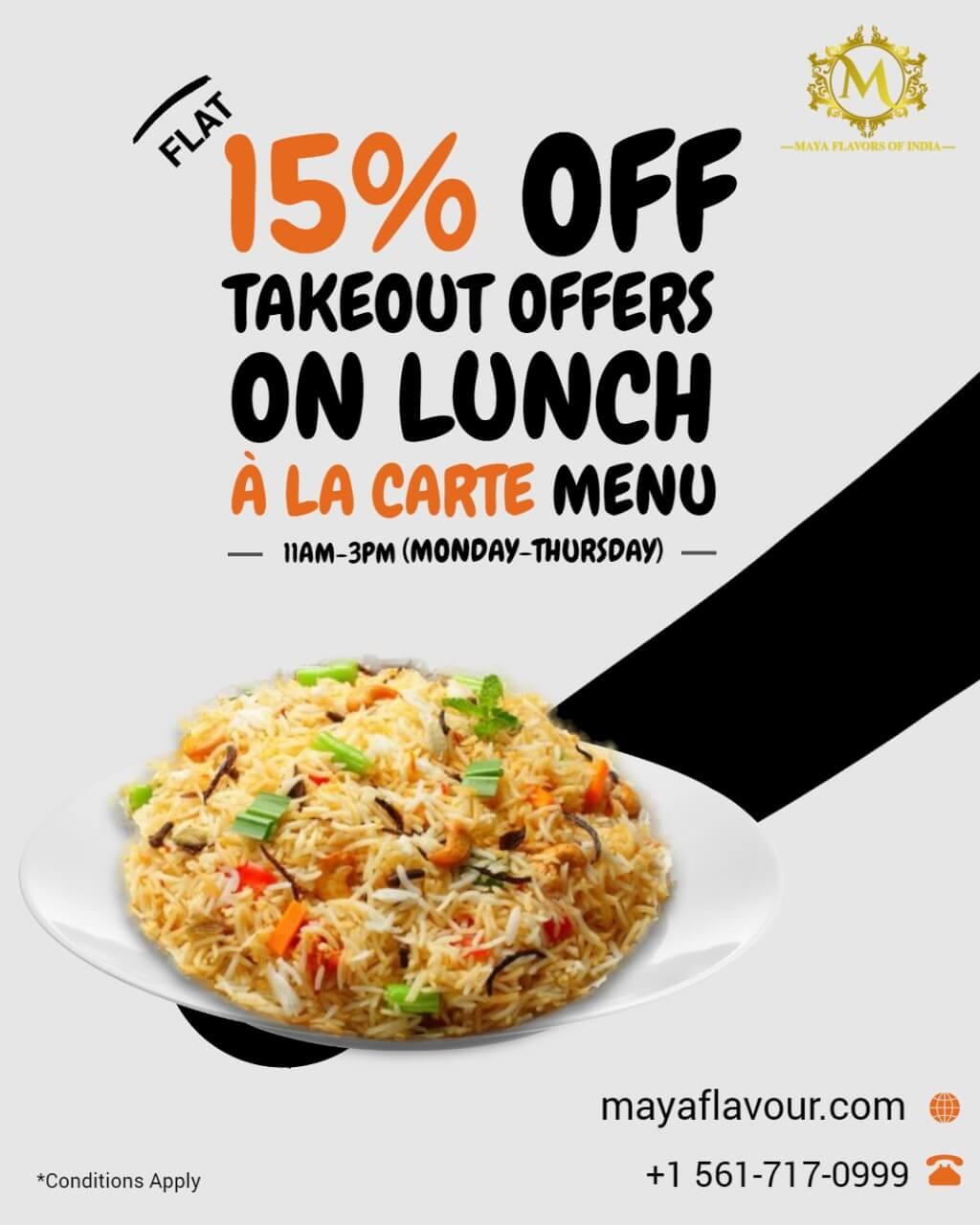 maya 15% offer
